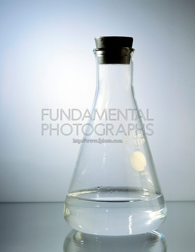 WATER IN STOPPERED FLASK SHOWS DYNAMIC EQUILIBRIUM<br /> (Variations Available) <br /> Evaporation Begins<br />  When water is first put into a closed container, water molecules begin to evaporate. When two or more processes occur simultaneously, with no net change, there is dynamic equilibrium.