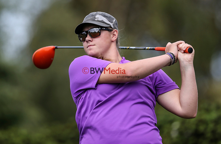 Ela Grimwood. NZ Amateur Stroke Play Championships, Shirley Golf Club, Christchurch, New Zealand, Thursday 24 March 2016. Photo: Simon Watts / BWmedia for NZ Golf<br /> All images &copy; NZ Golf and BWMedia.co.nz