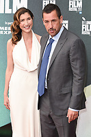 Adam Sandler &amp; wife Jackie Sandler at the London Film Festival 2017 screening of &quot;The Meyerowitz Stories&quot; at the Embankment Gardens Cinema, London, UK. <br /> 07 October  2017<br /> Picture: Steve Vas/Featureflash/SilverHub 0208 004 5359 sales@silverhubmedia.com