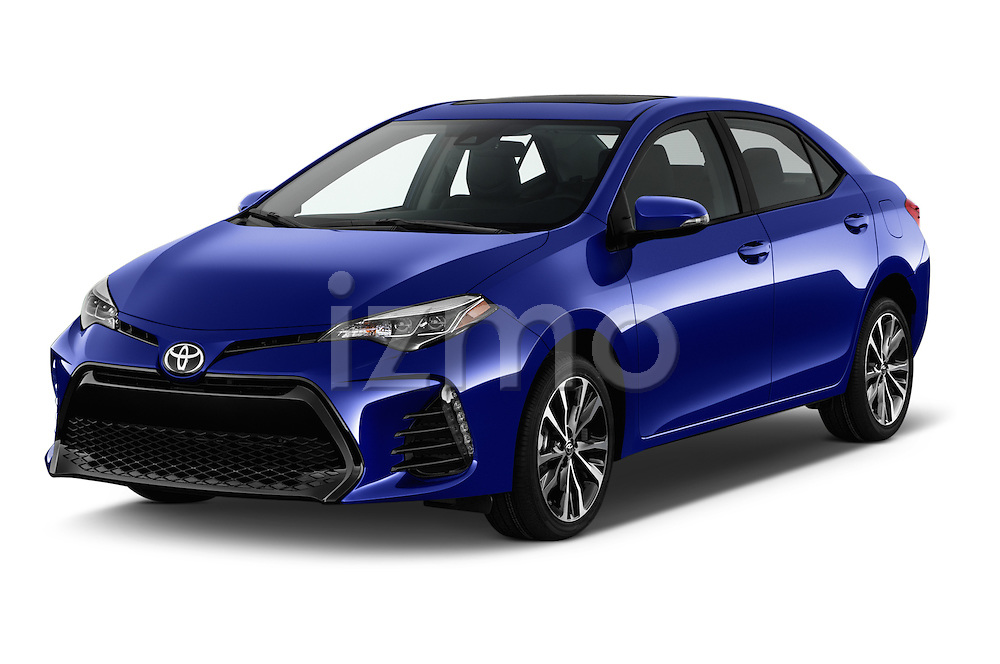 2017 Toyota Corolla XSE-AT 4 Door Sedan Angular Front stock photos of front three quarter view