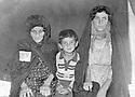 Iran 1975 Members of the  Rowanduzi family arriving in Iran as refugees, 2 women and a young boy : in Ourmieh, mother with son Gerul and sister Hiwa<br /> Iran 1975  Des femmes  et un jeune garcon, membres de la famille d&rsquo;Abdul Wahab Rowanduzi arrivent en Iran comme r&eacute;fugi&eacute;s<br /> ئیران 1975 , بنه ماله ی عه بدلوه هاب ئاغا روواندوزی ده گه نه ئیران ، ده بنه په نابه ری سیاسی