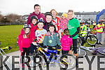 At the St Brendan's NS FENIT Coastal Cycle on Saturday were Kira Quilter, Tom Quilter, Ben O'Keeffe, Kay O'Keeffe, John Quilter, Emer Hussey, Rosarie Quilter, Aisling O'Keeffe, Kate Brosnan, Ali O'Dwyer