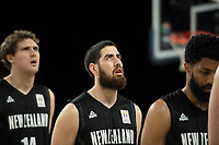 New Zealand Tall Blacks&rsquo; Jordan Ngatai in action during the FIBA World Cup Basketball Qualifier - NZ Tall Blacks v China at Spark Arena, Auckland, New Zealand on Sunday 1 July 2018.<br /> Photo by Masanori Udagawa. <br /> www.photowellington.photoshelter.com