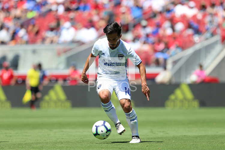 Santa Clara, CA - Sunday July 22, 2018: Jahmir Hyka during a friendly match between the San Jose Earthquakes and Manchester United FC at Levi's Stadium.
