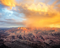 Morning Storm Clouds, Grand Canyon National Park, Arizona, Colorado River, Sunrise