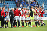 Sheffield United's players celebrate at the final whistle during the League One match at the Priestfield Stadium, Gillingham. Picture date: September 4th, 2016. Pic David Klein/Sportimage