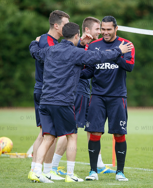 Carlos Pena with Jason Holt, Jordan Rossiter and Ryan Jack