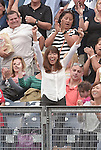 Mai Tanaka,<br /> SEPTEMBER 21, 2014 - MLB :<br /> Mai Tanaka, wife of Masahiro Tanaka of the New York Yankees, celebrates during the Major League Baseball game between the Toronto Blue Jays and the New York Yankees at Yankee Stadium in Bronx, New York, United States. (Photo by AFLO)