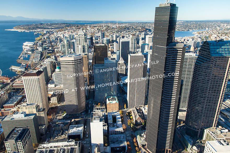 Aerial photo of Seattle skyline