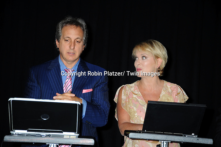 """Billy Van Zandt and Tonja Walker rehearsing the play """"You've Got Hate Mail"""" on August 5, 2011 at The Triad in New York City. .photo by Robin Platzer/ Twin Images..212-935-0770"""