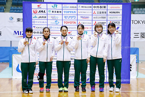 Japan team group (JPN), <br /> AUGUST 6, 2017 - Goalball : <br /> 2017 Japan Para Championships Goalball <br /> Award ceremony <br /> at Chiba port arena, Chiba, Japan. <br /> (Photo by Yohei Osada/AFLO SPORT)