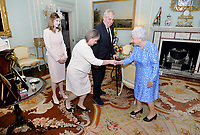 16 June 2017 - London, England - Queen Elizabeth II meets Milos Zeman, President of the Czech Republic, accompanied by his wife Ivana and daughter Katerina during a private audience with Her Majesty at Buckingham Palace. Photo Credit: Alpha Press/AdMedia