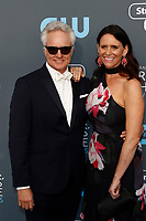 Bradley Whitford and Amy Landecker attend the 23rd Annual Critics' Choice Awards at Barker Hangar in Santa Monica, Los Angeles, USA, on 11 January 2018. Photo: Hubert Boesl - NO WIRE SERVICE - Photo: Hubert Boesl/dpa /MediaPunch ***FOR USA ONLY***