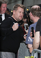 NEW YORK, NY - June 05: James Corden seen leaving The Late Show in New York City on June 05, 2019 <br /> CAP/MPI/RW<br /> ©RW/MPI/Capital Pictures