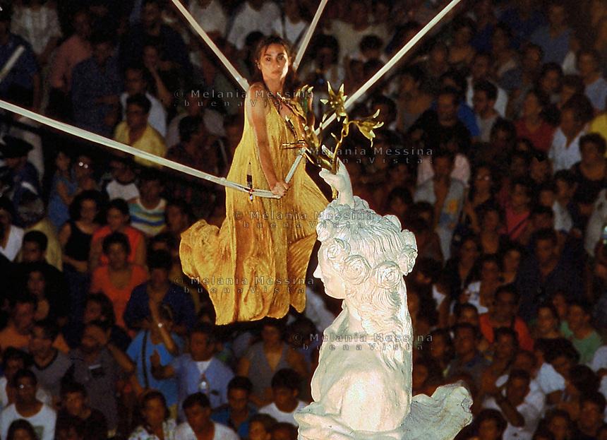 Palermo, feast of Saint Rosalia.<br /> Palermo, festino di Santa Rosalia