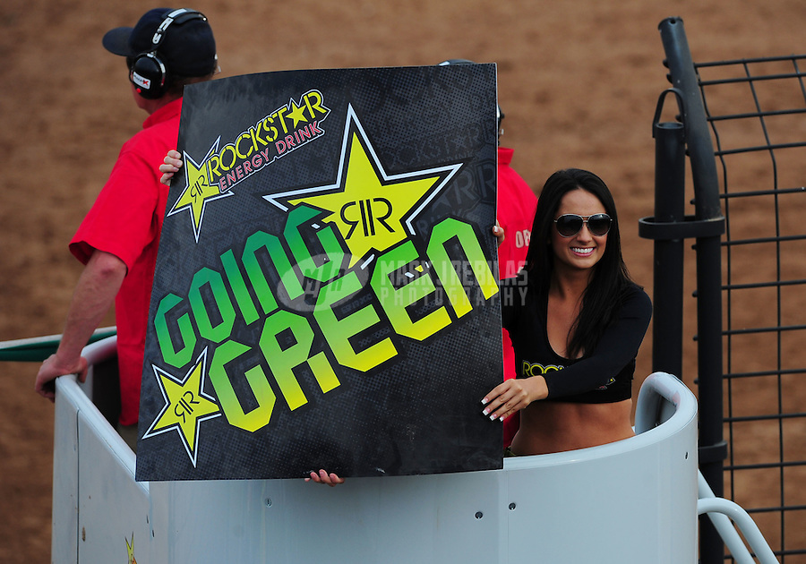 Mar. 20, 2011; Chandler, AZ, USA;  LOORRS Rockstar Energy Drink girls during round two at Firebird International Raceway. Mandatory Credit: Mark J. Rebilas-