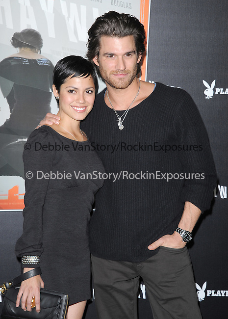Sylvia Brindis and Johnny Wenworth attends the Relativity Media L.A. Premiere of Haywire held at The DGA in West Hollywood, California on January 05,2012                                                                               © 2012 DVS / Hollywood Press Agency