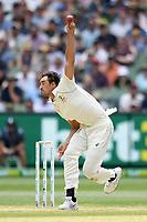 28th December 2019; Melbourne Cricket Ground, Melbourne, Victoria, Australia; International Test Cricket, Australia versus New Zealand, Test 2, Day 3; Mitchell Starc of Australia bowls