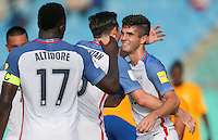 St. Vincent and the Grenadines - September 2, 2016: The U.S. Men's National team take a 5-0 lead over St. Vincent and the Grenadines with Christian Pulisic contributing a goal from a Sacha Kljestan assist in a World Cup Qualifier (WCQ) match at Arnos Vale Stadium.
