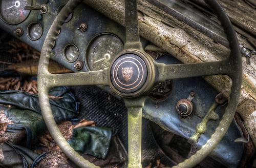 Old car graveyard <br /> 1950 Jaguar XK120 &ldquo;LT2&rdquo; Roadster