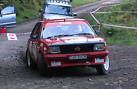 Kieran O'Kane / Matt Reid at Junction 6, on Special Stage 1 Craigvinean in the Colin McRae Forest Stages Rally 2012, Round 8 of the RAC MSA Scotish Rally Championship which was organised by Coltness Car Club and based in Aberfeldy on 5.10.12.