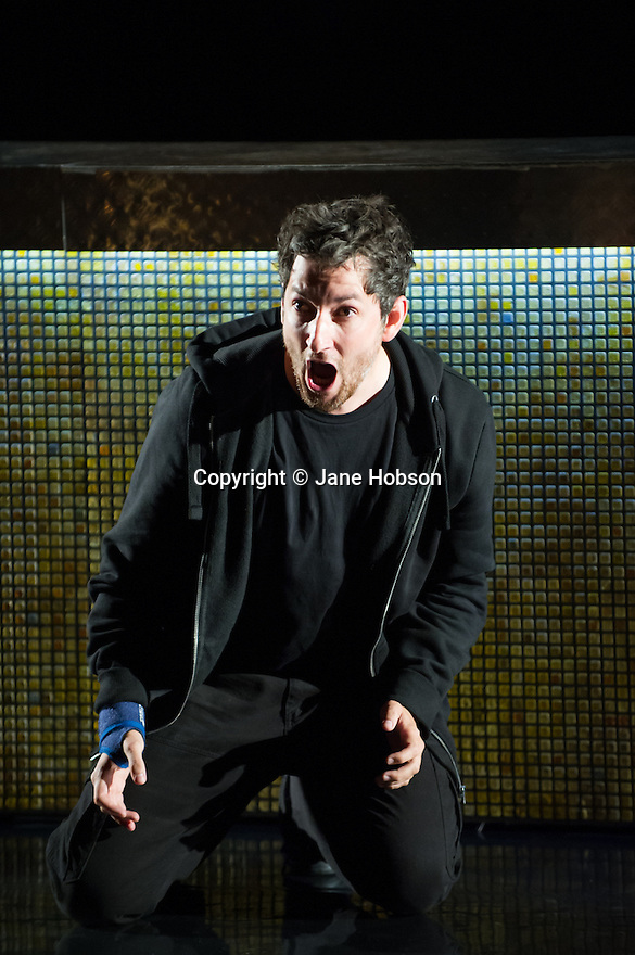 Edinburgh, UK. 30.08.2012. Scottish Opera and Music Theatre Wales present GHOST PATROL. Written by Louise Welsh and scored by Stuart MacRae. Picture shows: Nicholas Sharratt (as Sam). Photo credit: Jane Hobson.