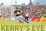 Paul Geaney Kerry  in action against Jamie O' Sullivan Cork in the Munster Senior Football Final at Fitzgerald Stadium on Sunday.