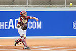 12 May 2016: Florida State's Sydney Broderick. The Florida State University Seminoles played the University of Pittsburgh Panthers at Dail Softball Stadium in Raleigh, North Carolina in a 2016 Atlantic Coast Conference Softball Tournament quarterfinal game. Florida State won the game 8-0 by run rule with one out in the bottom of the sixth inning.