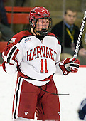 Kyle Criscuolo (Harvard - 11) - The Yale University Bulldogs defeated the Harvard University Crimson 5-1 on Saturday, November 3, 2012, at Bright Hockey Center in Boston, Massachusetts.