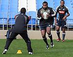Sitiveni Sivivatu at All Blacks training. Auckland, Wednesday 22 August 2007.