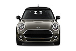 Car photography straight front view of a 2019 Mini Cooper Hardtop 2 Door 3 Door Hatchback