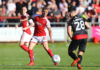Fleetwood Town&rsquo;s Kyle Dempsey and Walsall's Callum Cockerill-Mollett <br /> <br /> Photographer Leila Coker/CameraSport<br /> <br /> The EFL Sky Bet League One - Fleetwood Town v Walsall - Saturday 5th May 2018 - Highbury Stadium - Fleetwood<br /> <br /> World Copyright &copy; 2018 CameraSport. All rights reserved. 43 Linden Ave. Countesthorpe. Leicester. England. LE8 5PG - Tel: +44 (0) 116 277 4147 - admin@camerasport.com - www.camerasport.com