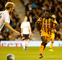 Nouha Dicko of Hull City in action during the Sky Bet Championship match between Fulham and Hull City at Craven Cottage, London, England on 13 September 2017. Photo by Carlton Myrie.