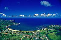 Hanalei Bay, Kauai, aerial