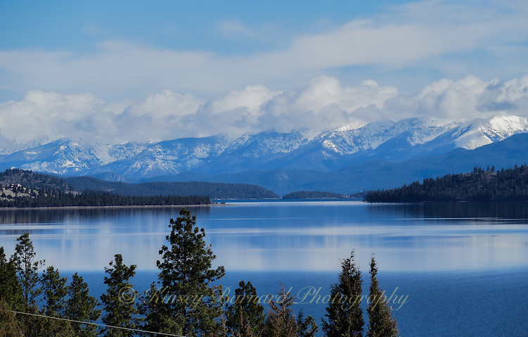 Beautiful Flathead Lake in Northwest Montana near the town of Polson