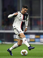 Calcio, Serie A: Inter Milano - Juventus, Giuseppe Meazza stadium, October 6 2019.<br /> Juventus' Cristiano Ronaldo in action during the Italian Serie A football match between Inter and Juventus at Giuseppe Meazza (San Siro) stadium, October 6, 2019.<br /> UPDATE IMAGES PRESS/Isabella Bonotto