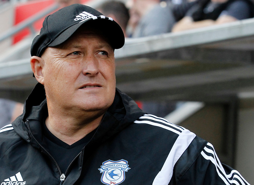 Cardiff City manager Russell Slade <br /> <br /> Photographer David Shipman/CameraSport<br /> <br /> Football - The Football League Sky Bet Championship - Rotherham United v Cardiff City - Saturday 19th September 2015 - AESSEAL New York Stadium - Rotherham<br /> <br /> &copy; CameraSport - 43 Linden Ave. Countesthorpe. Leicester. England. LE8 5PG - Tel: +44 (0) 116 277 4147 - admin@camerasport.com - www.camerasport.com