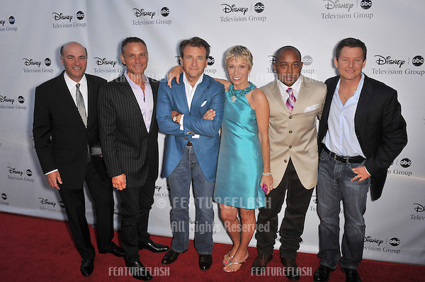Shark Tank stars Kevin O'Leary (left), Kevin Harrington, Robert Herjavec, Barbara Corcoran, Daymond John & producer Clay Newbill at the ABC TV 2009 Summer Press Tour cocktail party at the Langham Hotel, Pasadena..August 8, 2009  Los Angeles, CA.Picture: Paul Smith / Featureflash