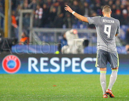 17.02.2016. Stadio Olimpico, Rome, Italy. UEFA Champions League, Round of 16 - first leg AS Roma versus Real Madrid. BENZEMA KARIM