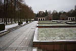 The Soviet cemetery and war memorial in Schoenholzer Heide in former East Berlin. The site was used as a forced labour camp by the Germans during World War II but transformed by the Soviets into the final resting place for around half of the 22,000 Red Army personnel killed during the battle for berlin in 1945. Today, much of the site lies dilapidated and the victim of casual vandalism and decay.