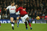 Jan Vertonghen of Tottenham Hotspur and Romelu Lukaku of Manchester United during Tottenham Hotspur vs Manchester United, Premier League Football at Wembley Stadium on 13th January 2019