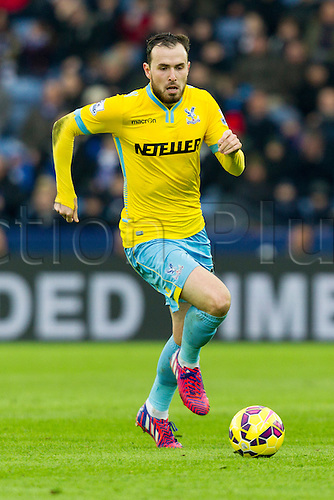 07.02.2015.  Leicester, England. Barclays Premier League. Leicester City versus Crystal Palace. Jordon Mutch (Crystal Palace) on the ball.