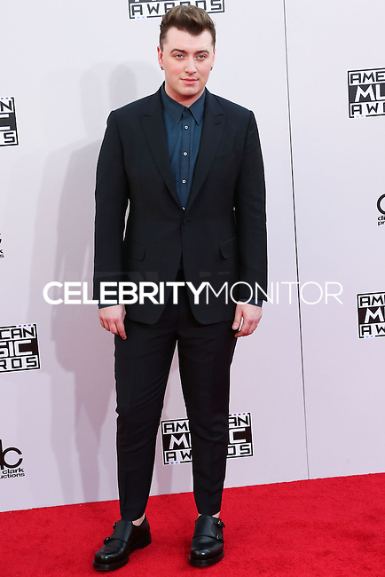 LOS ANGELES, CA, USA - NOVEMBER 23: Sam Smith arrives at the 2014 American Music Awards held at Nokia Theatre L.A. Live on November 23, 2014 in Los Angeles, California, United States. (Photo by Xavier Collin/Celebrity Monitor)