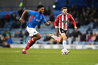 Ellis Harrison of Portsmouth goes forward during Portsmouth vs Altrincham, Emirates FA Cup Football at Fratton Park on 30th November 2019