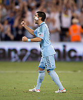 Paulo Nagamura. Sporting Kansas City won the Lamar Hunt U.S. Open Cup on penalty kicks after tying the Seattle Sounders in overtime at Livestrong Sporting Park in Kansas City, Kansas.