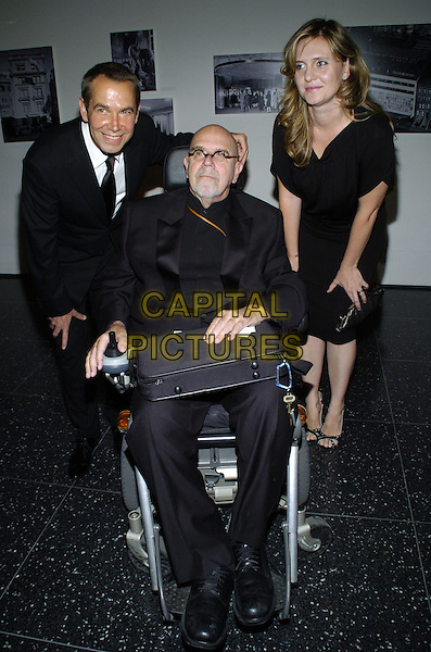 "JEFF KOONS, CHUCK CLOSE & JUSTIN KOONS.The 39th annual ""The Party in the Garden"" at the Museum of Modern Art, New York City, New York, USA..May 15th, 2007.full length black suit dress bending wheelchair .CAP/ADM/BL.©Bill Lyons/AdMedia/Capital Pictures *** Local Caption ***"