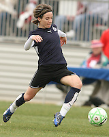 Sonia Bompastor of the Washington Freedom reaches out for the ball during a WPS pre season match against Sky Blue F.C. at Maryland Soccerplex,in Boyd's, Maryland on March 14 2009. Sky Blue won the match 1-0