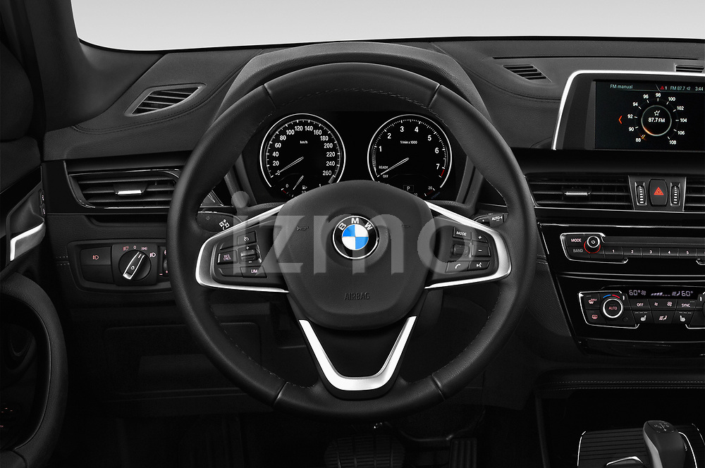 Car pictures of steering wheel view of a 2018 BMW X2 Premiere 5 Door SUV Steering Wheel