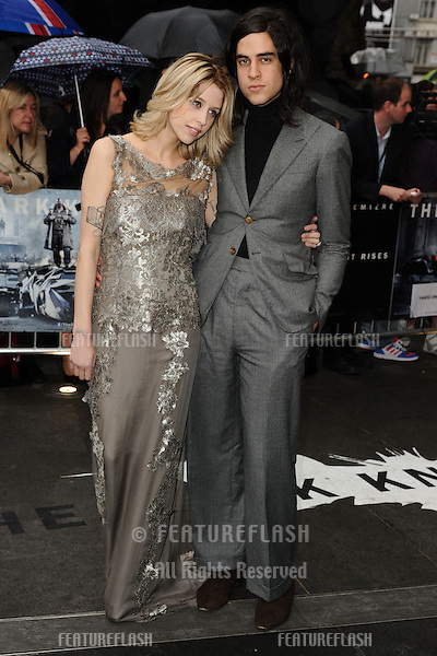 "Peaches Geldof and Thomas Cohen arriving for European premiere of ""The Dark Knight Rises"" at the Odeon Leicester Square, London. 18/07/2012 Picture by: Steve Vas / Featureflash"
