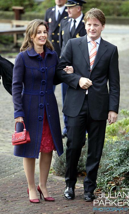 Prince Pieter-Christiaan & Princess Anita attend the Christening of Crown Prince Willem-Alexander & Crown Princess Maxima's daughter Princess Alexia at the Dorpskerk in Wassenaar..